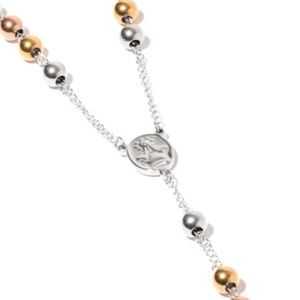 Jewelry - Rosary Style Necklace in Stainless Steeel